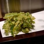 天麩羅とお蕎麦 三輪 - 水菜のかき揚げ
