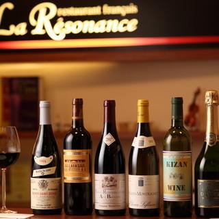 厳選ワインや自家製パン。自慢のフレンチを引き立てる逸品の数々