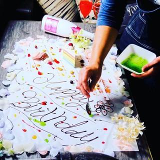 記念日・誕生日☆感動【テーブルアート】でサプライズ♪
