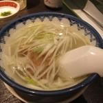 牛たん炭焼き 利久 - 牛テールスープ