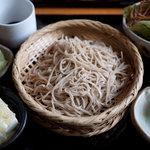 手打蕎麦 とし庵 - お昼のセット(小丼は写ってない)