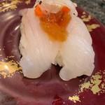 回転寿司 魚浜 - 活ひらめポン酢ジュレ