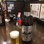 前之園 - 今日も瓶ビールでスタート