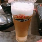 肉バルと個室 ジドリーナ - 生ビール【平成30年10月29日撮影】