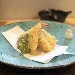 吉櫻 - 穴子と海老の天ぷら