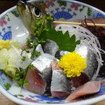 海鮮料理の店 岩沢 - イワシの刺身(730円)