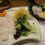 瀬戸内料理 くにさだ - 2011年9月17日再訪 穴子刺身&あらい