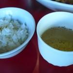 ぎん晴れ55 - ライス小とスープがランチタイムは無料