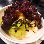 Fujiwara - 抹茶パフェ!             アイスクリームの上に小豆でしたo(^o^)o