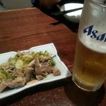 ちょもらんま酒場 - ガツゆでポンズ&生ビール2018.10.28