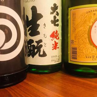 日本酒は肉料理に合う厳選した一品です。瀬戸内レモンサワーも!