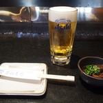 万福寿司 - 生ビール