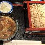 やぶ仙 - イベリコ豚蕎麦
