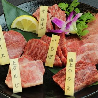 極上・上クラスのお肉と塩タンを含む<6種類>の肉盛りセットを