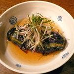 米蔵 - 茄子の揚げびたし、茗荷とネギがほど良く効いて、清涼感ある一品