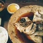 竹亭にしき - クロダイの煮魚定食