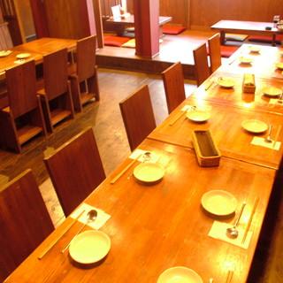 テーブル席(2階・最大30名様まで可)