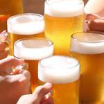 かなしゃ庵 - まずはビールで乾杯!