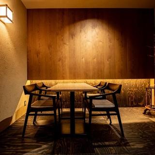 《テーブルタイプの完全個室》