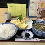 豊福 - だし巻き玉子定食700円です(2018.10.31)