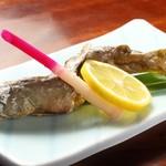 そば処 一休庵 - 岩魚の塩焼き