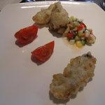 ete - 牡蠣のペシエ・生ハムと野菜のヴィネグレット