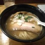 麺堂HOME - 濃い水曜日SPECIAL!鶏白湯&煮干し!とろみと魚介の風味がほんのりと。生玉ねぎのシャキシャキも良い!