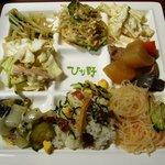 旬菜食健 ひな野 - アースカラーなプレート・・。