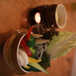 石窯ピザ&ダイニング LIBEROcafe - 地元野菜をふんだんに使ったバーニャカウダは女子に大人気です。