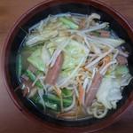 うちなーすばヤージ小 - 野菜そばハーフ650円