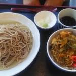ひびき ハナレ - 蕎麦大盛り+かき揚げ丼セット950円