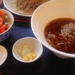 ひびき ハナレ - 温そばとミニ丼セット850円