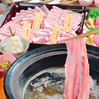 11/15~「えん特製しびれ鍋」4種の豚しゃぶ食べ比べコース
