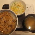 95632408 - 豚丼生野菜サラダセット480円(2018.9.12)
