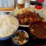 赤道食堂 - 焼肉定食ご飯大盛り