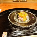 95642840 - 平戸の甘鯛、菊花ポン酢ジュレ