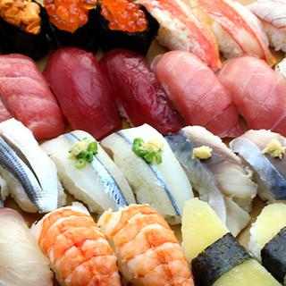 高級寿司を食べ放題で