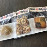 おおいた温泉座 - 地獄蒸し燻製(ナッツ、チーズ、卵)各¥300