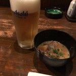 和樂 - 生ビールとお通し