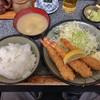 かつ銀 - 料理写真:日替わりランチ エビフライ定食 810円