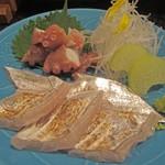 聖護院 嵐まる - 蛸と太刀魚刺身