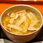 松見坂 小林 - 鱧と松茸の茶碗蒸し 柚子の香りで
