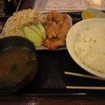居酒屋釧路 - 鶏の竜田揚げ定食