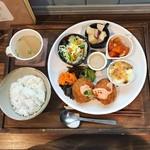 にじいろcafe - 2018.11月ランチ 海老カツ