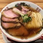 95681929 - 中華そば(醤油)600円+焼豚増し350円