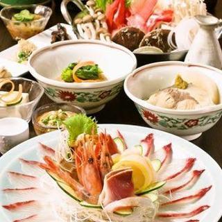 料理はお任せコースが魅力◎和食料理セット5品/1200円~。