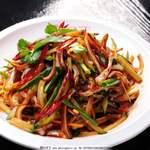 老北京 火鍋料理 蝎子王 - 豚の耳の和え物
