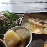 ポチ屋cafe - お芋のカクテルとマカロニグラタン(2018.11.1)