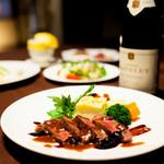 京の野菜とジビエの町家レストラン むすびの - クセのない鹿肉メインのディナーコース