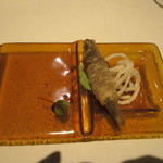 ルッチコーレ - 料理写真:お通し:稚魚のおでむかえ